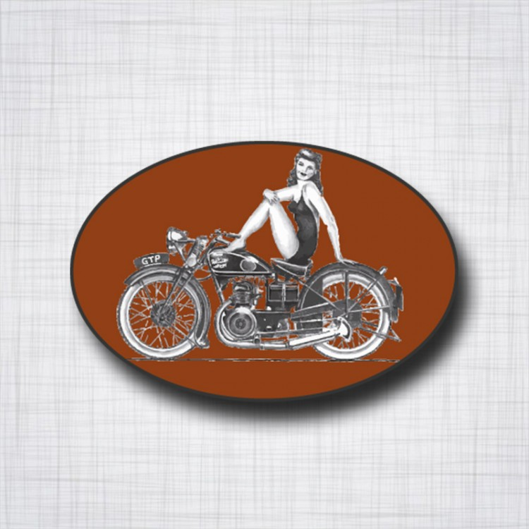 Velocette Pin up