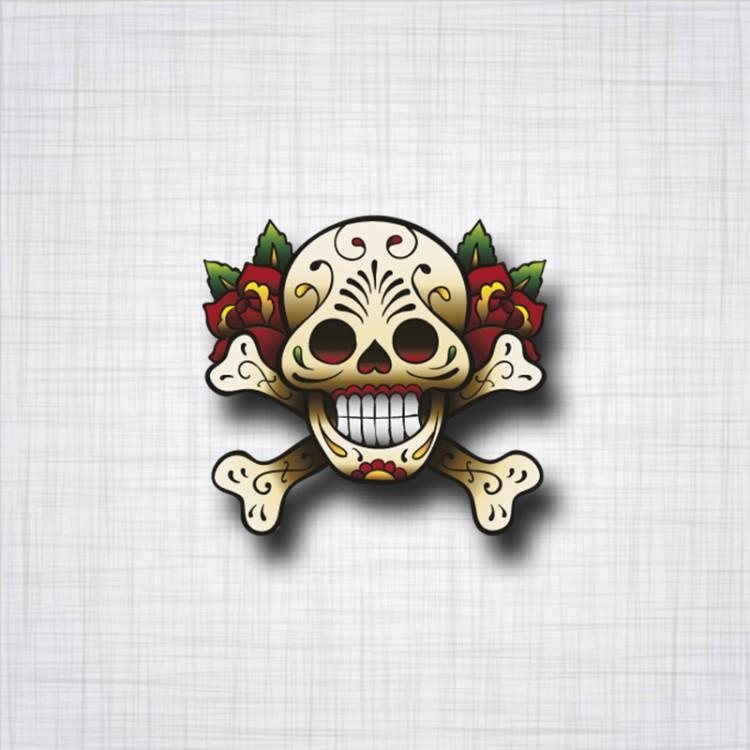 Sticker Skull Tattoo