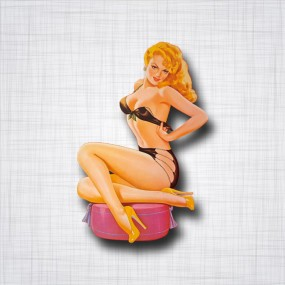 Pin-Up Blonde coussin