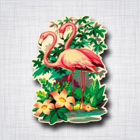 Sticker Flamands Roses