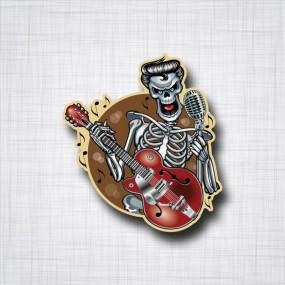 Rockabilly Skull Guitare