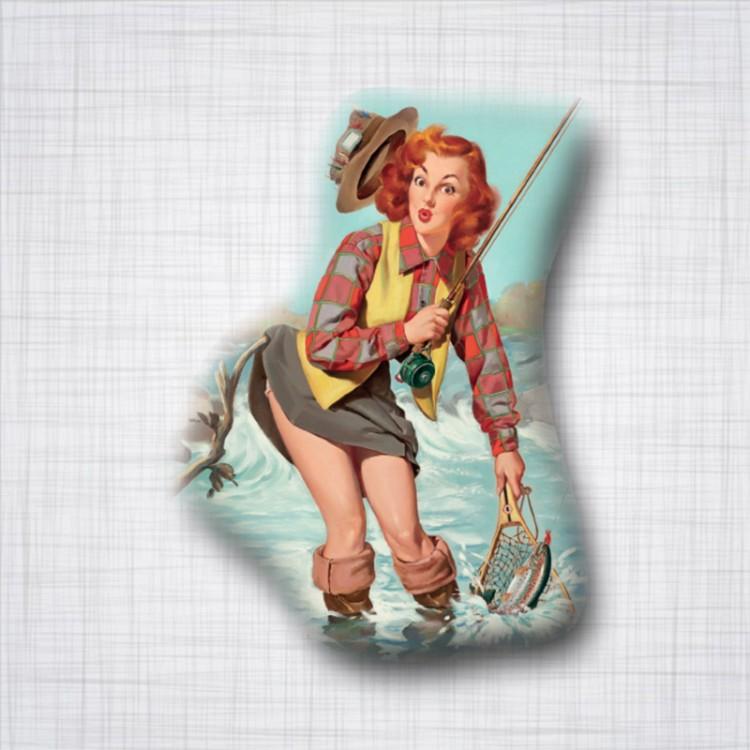 Pin-up Rousse Pêche