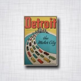 Sticker Detroit The Motor City