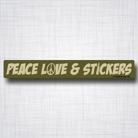Peace Love & Stickers