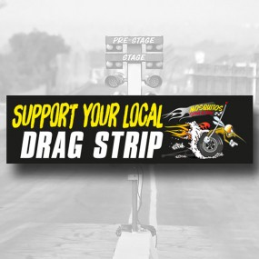 "Bumper Sticker GM ""Support your local drag strip"""