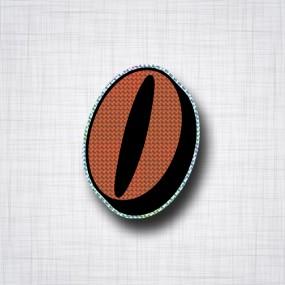 Chiffre 0 Noir et Orange prismatique ht 90mm