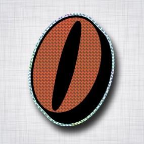 Chiffre 0 Noir et Orange prismatique ht 140mm
