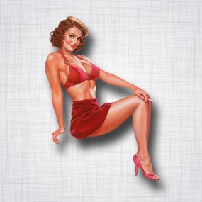 Pin-up Jupe Rouge Droit