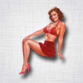 Pin-up Jupe Rouge Gauche