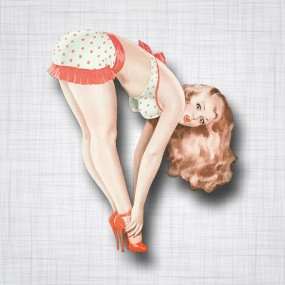 Pin-up Maillot a pois Droit