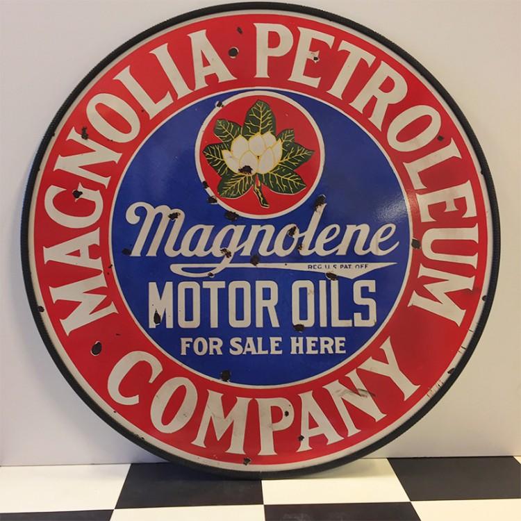 Plaque publicitaire Magnolia Petroleum Company
