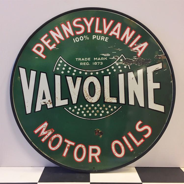 Plaque publicitaire Valvoline