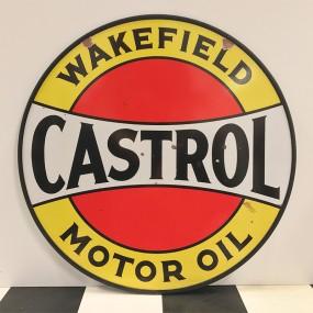 Plaque publicitaire Castrol Motor Oil