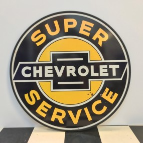 Plaque publicitaire Chevrolet Super Service