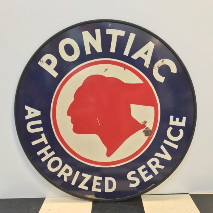 Plaque publicitaire Pontiac Authorized Service