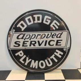 Plaque publicitaire DODGE PLYMOUTH Approved Service