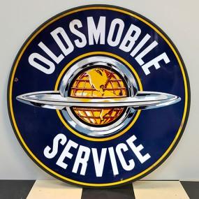 Plaque publicitaire OLDSMOBILE SERVICE