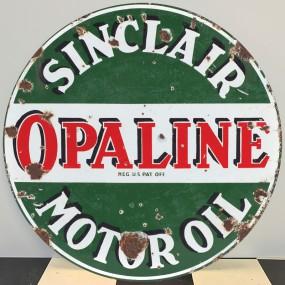 Plaque publicitaire SINCLAIR OPALINE Motor Oil