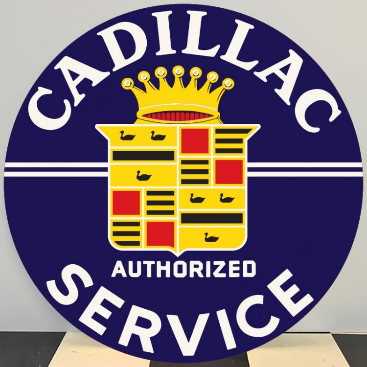 Plaque publicitaire CADILLAC SERVICE