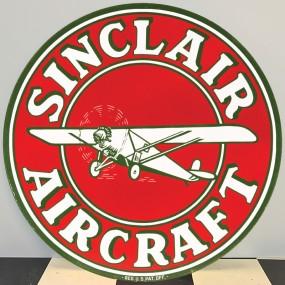 Plaque publicitaire SINCLAIR AIRCRAFT