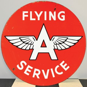 Plaque publicitaire FLYING A SERVICE
