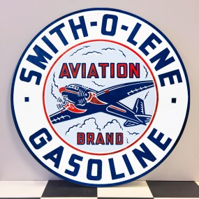 Plaque publicitaire SMITH-O-LENE Gasoline