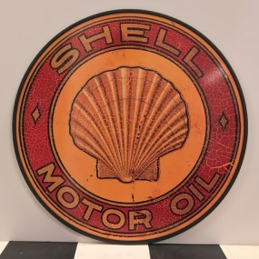 Plaque publicitaire SHELL MOTOR OIL