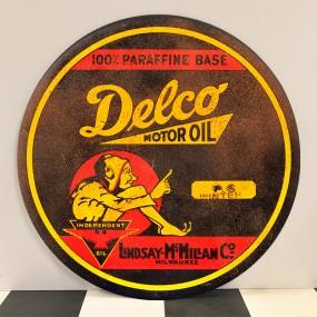 Plaque publicitaire DELCO MOTOR OIL