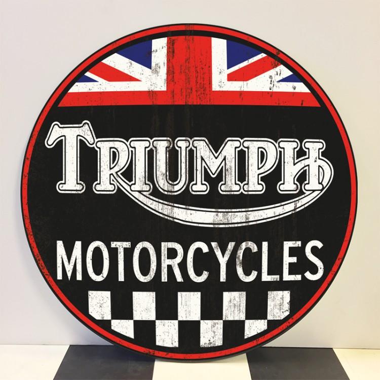 Plaque publicitaire Triumph Motorcycles 1936-1990