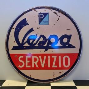Plaque publicitaire Vespa Servizio