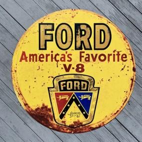 Plaque publicitaire Ford V8