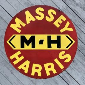 Plaque publicitaire Massey Harris