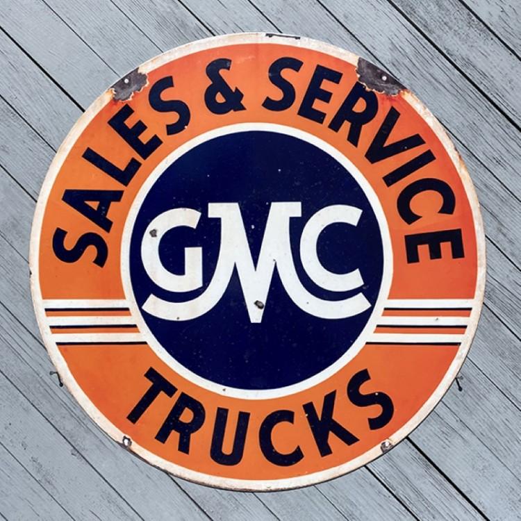 Plaque publicitaire GMC Trucks