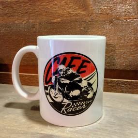 Mug céramique blanc Cafe Racer