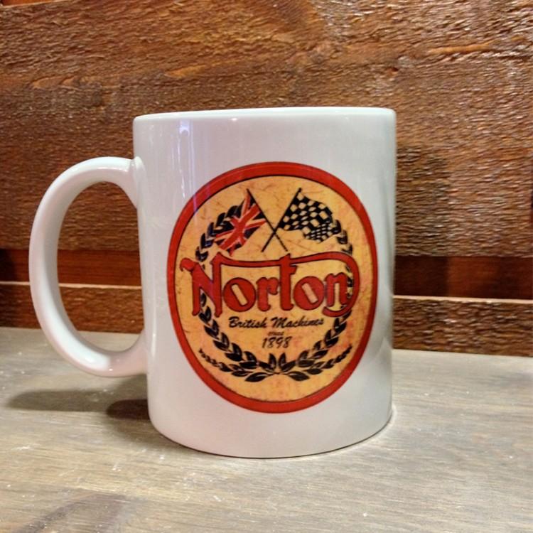Mug céramique Blanc Norton British Machines