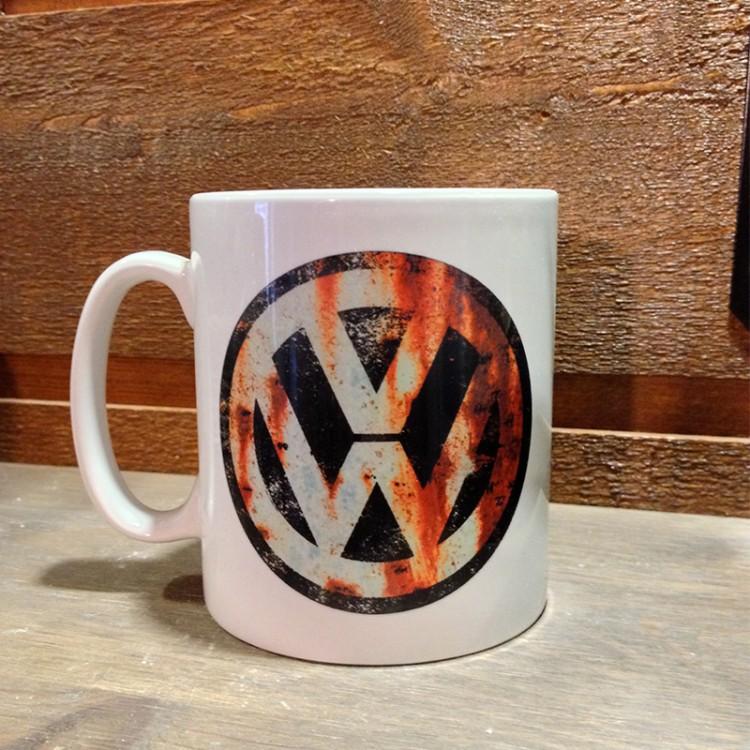 Mug céramique Blanc VW rouillé