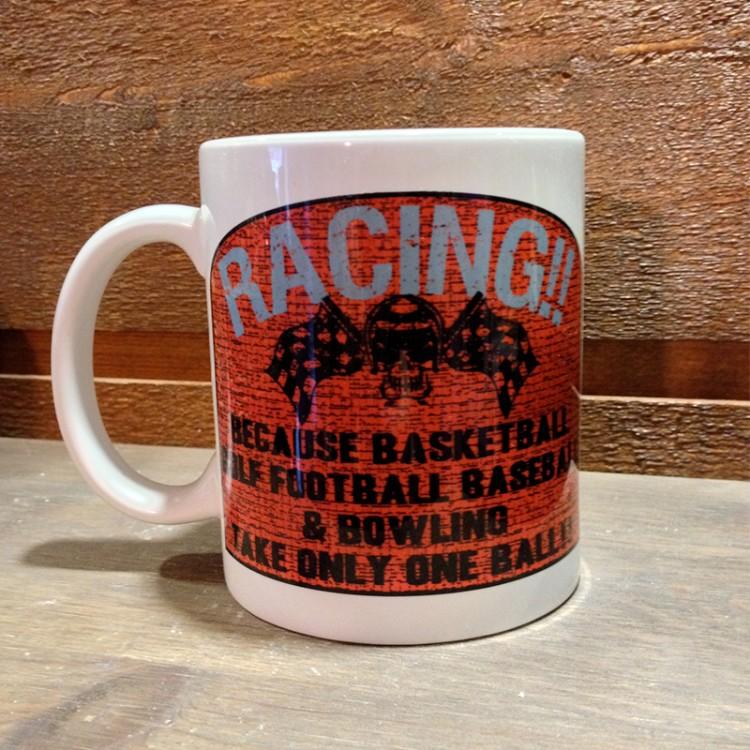 Mug céramique Blanc Racing