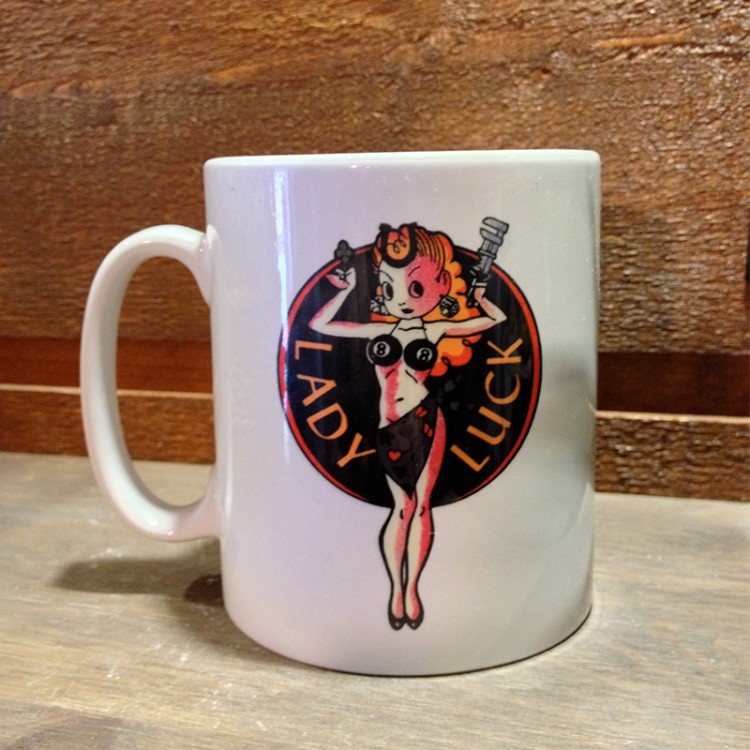 Mug céramique Blanc Lady Luck