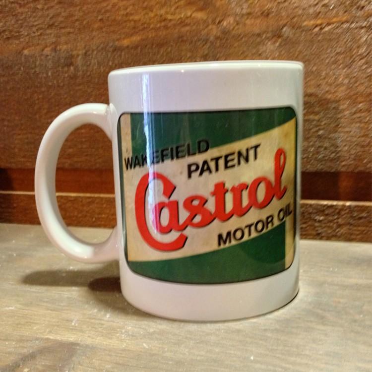 Mug céramique Blanc Castrol Motor Oil