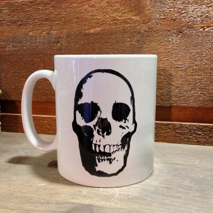Mug céramique blanc Tête de Mort