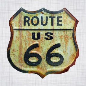 Sticker Route US 66 400mm