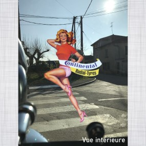 Sticker Pin-up Continental Radial Tyres vitrauphanie