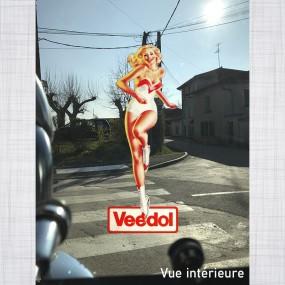 Sticker Pin-up Veedol Maillot vitrauphanie
