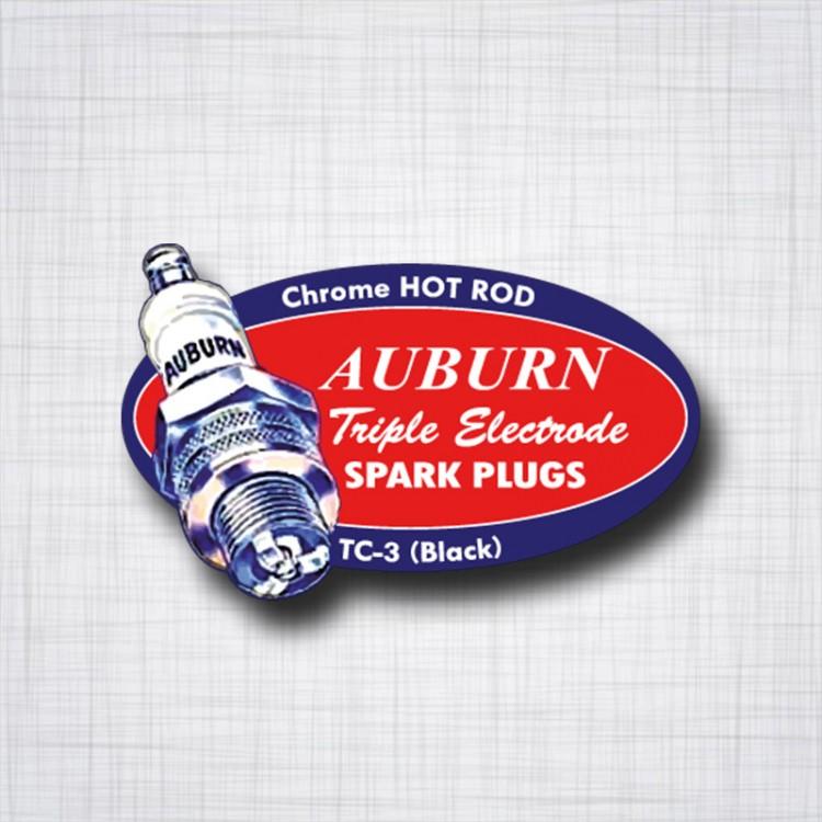 Sticker Auburn Spark Plugs