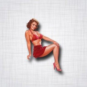 Pin-Up jupe rouge
