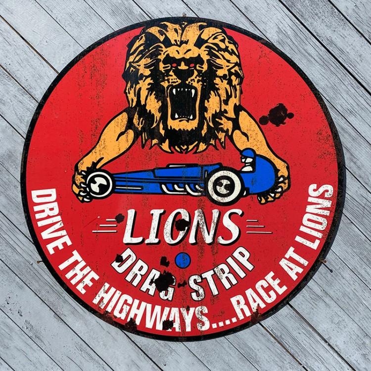 Plaque publicitaire LIONS Drag Strip