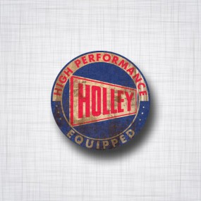 Sticker Holley Equipped Patina