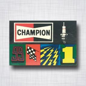 Sticker Champion Spark Plug 5 Stickers en 1