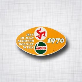 Sticker Castrol Ile de Man Scooter 1970
