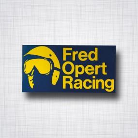 Sticker Fred Opert Racing